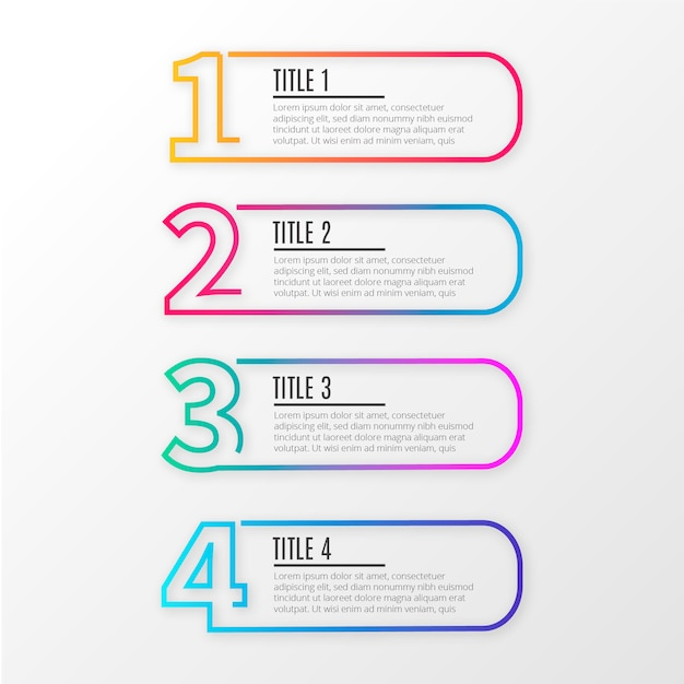 Modern line business infographics Free Vector