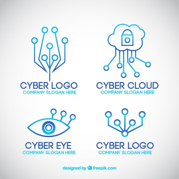 Modern Line Technology Logo Templates Vector Free Download