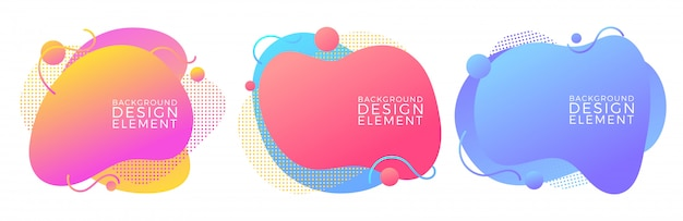Modern liquid fluid abstract elements Premium Vector