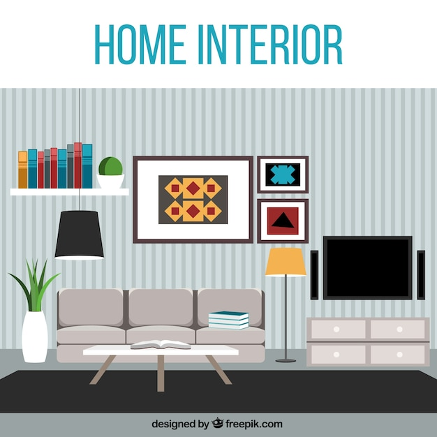 modern living room vector | free download