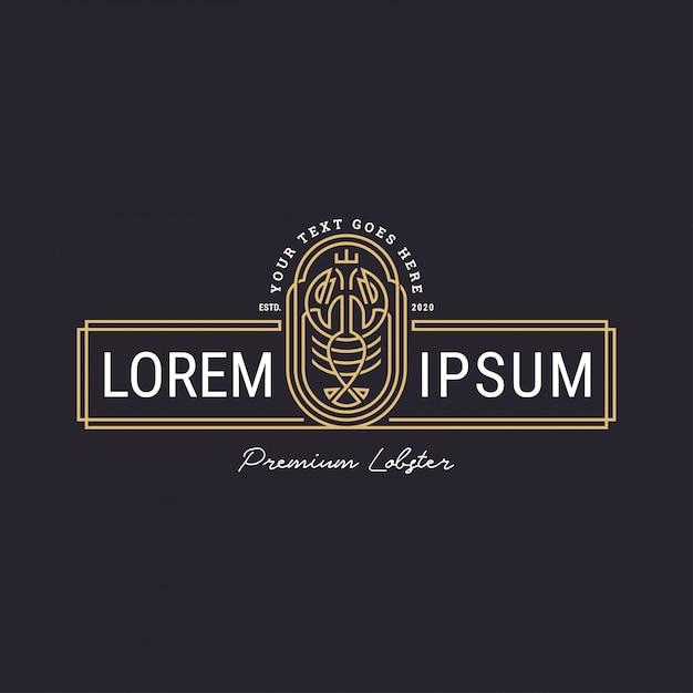 ラインスタイルのモダンなロブスターのロゴ Premiumベクター