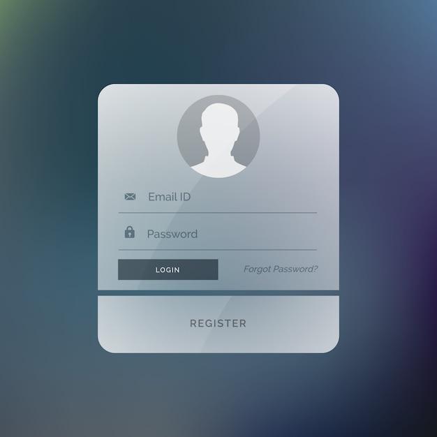 Modern Login Form Vector Free Download