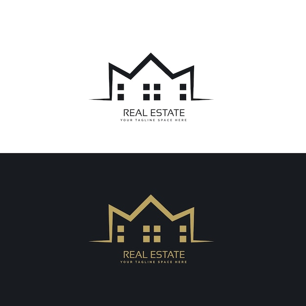 Modern logo design for real estate sector