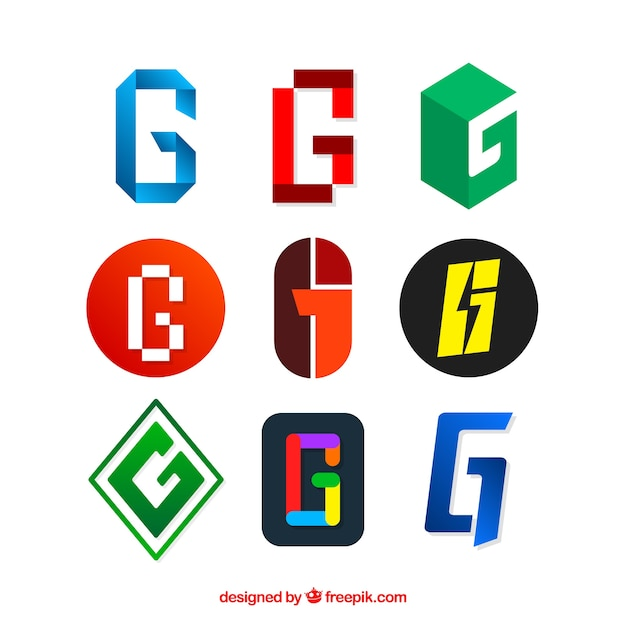 Modern logos set of letter