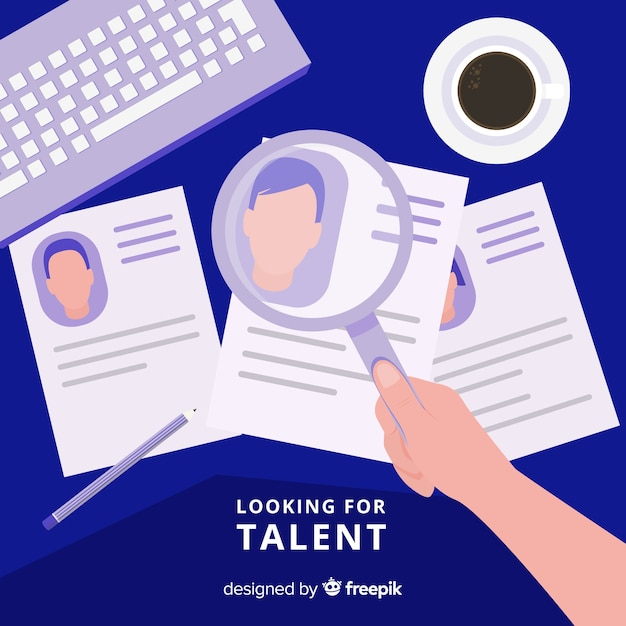 Modern looking for talent composition Free Vector