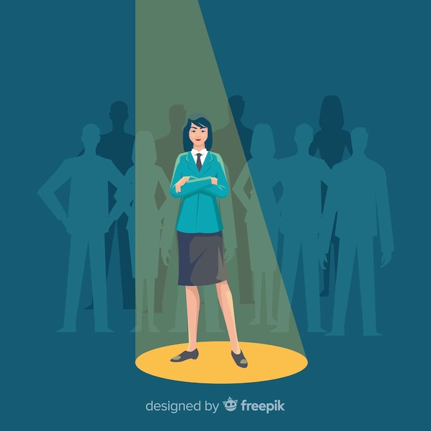 Modern looking for talent concept Free Vector
