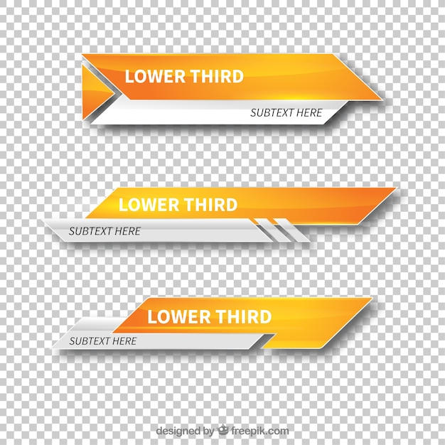 Modern Lower Third Templates Vector Free Download