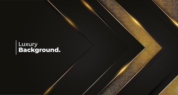 Modern luxury background template with golden pattern Free Vector