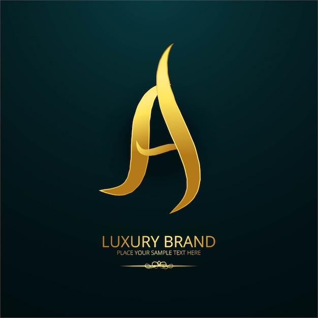 Modern luxury letter a logo