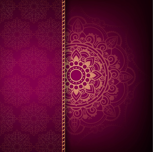 Modern luxury mandala background Free Vector