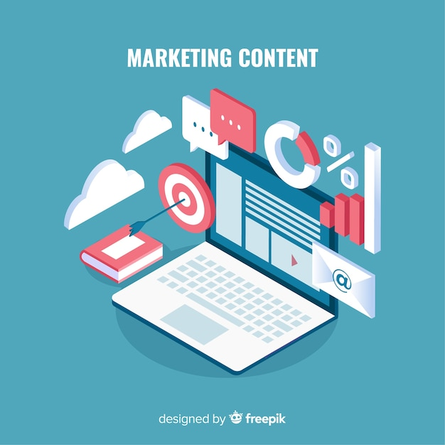 Modern marketing content concept Free Vector