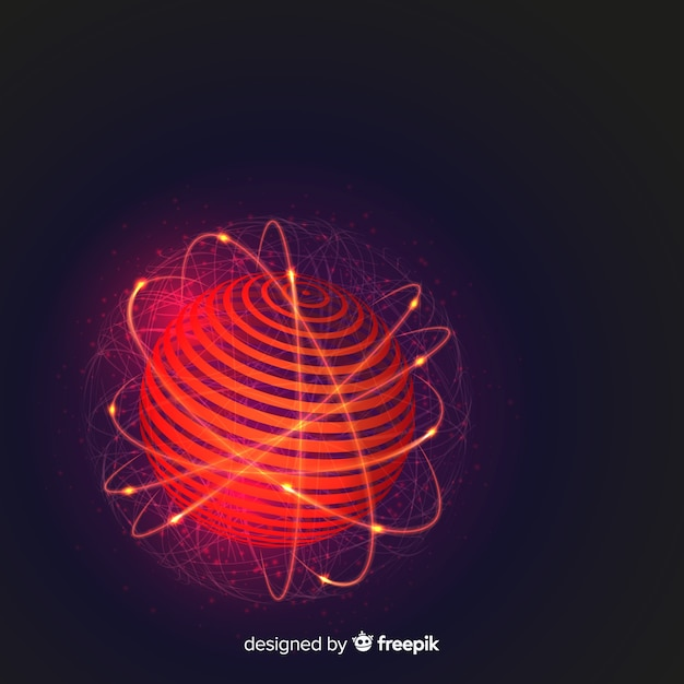 Modern mars background with abstract design Free Vector