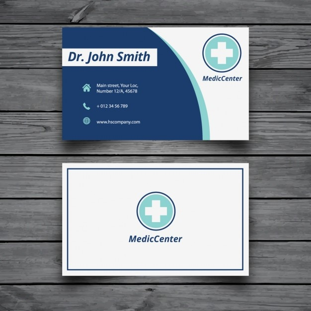 Modern medical business card template Vector – Medical Business Card Templates