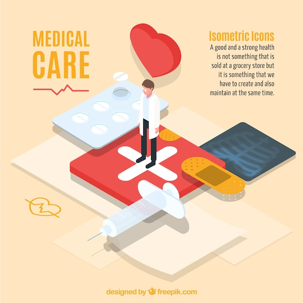 Modern medical care graphic