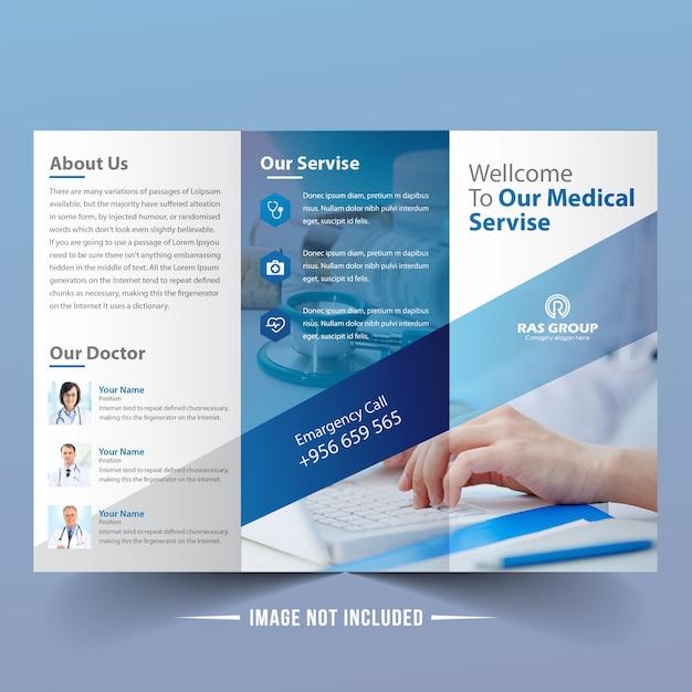 Modern medical trifold brochure Vector | Premium Download
