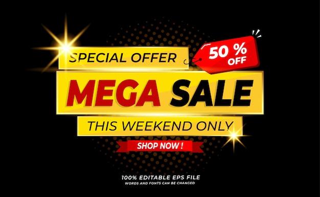 Modern  mega sale banner or background Premium Vector