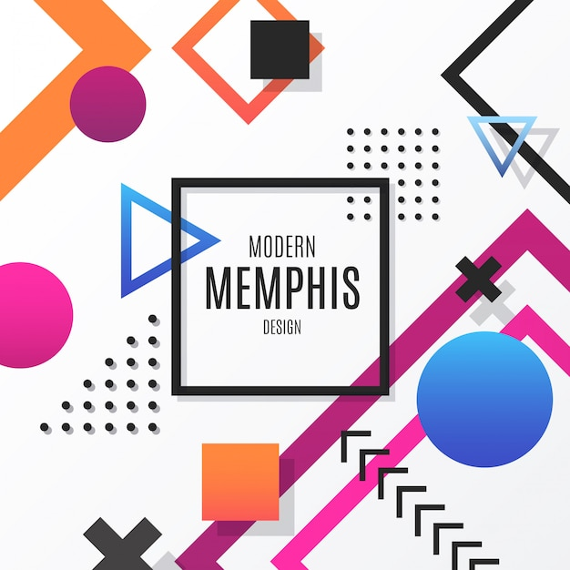 Modern Memphis Design Background Free Vector