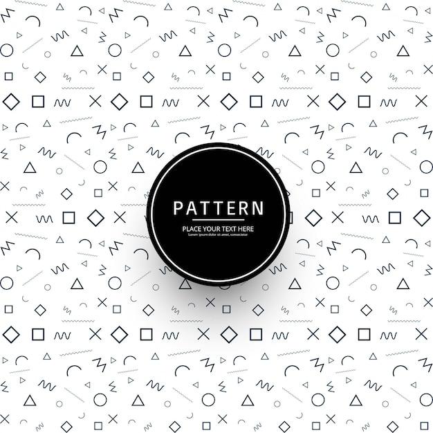 Modern memphis pattern background illustration Free Vector