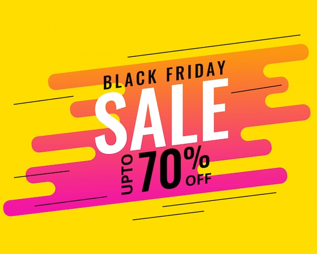 Modern memphis style black friday sale banner design Free Vector