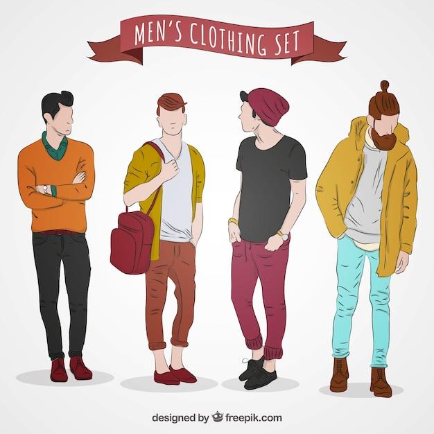 Modern Men 39 S Clothing Vector Premium Download