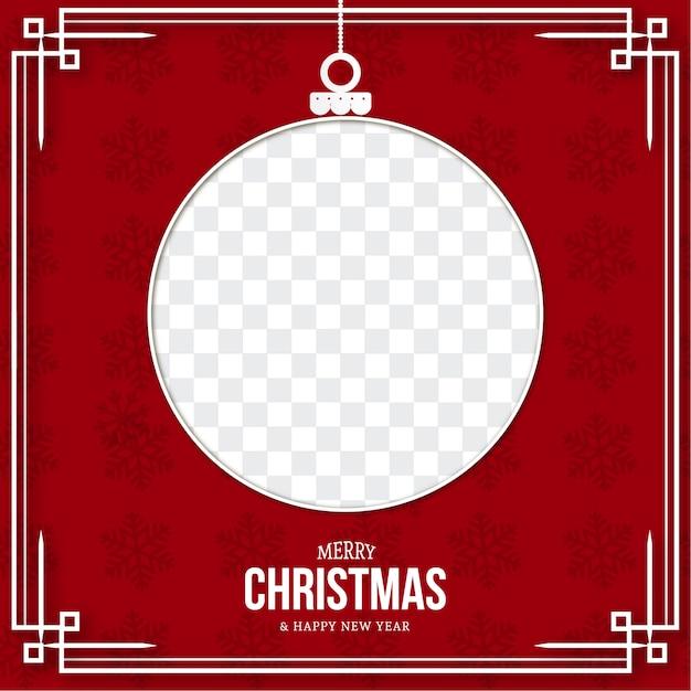 Modern merry christmas card template Free Vector