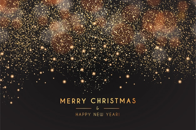 Modern merry christmas and happy new year background Free Vector