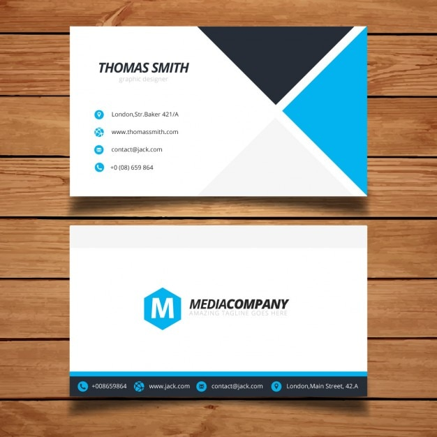 modern minimal business card template vector free download