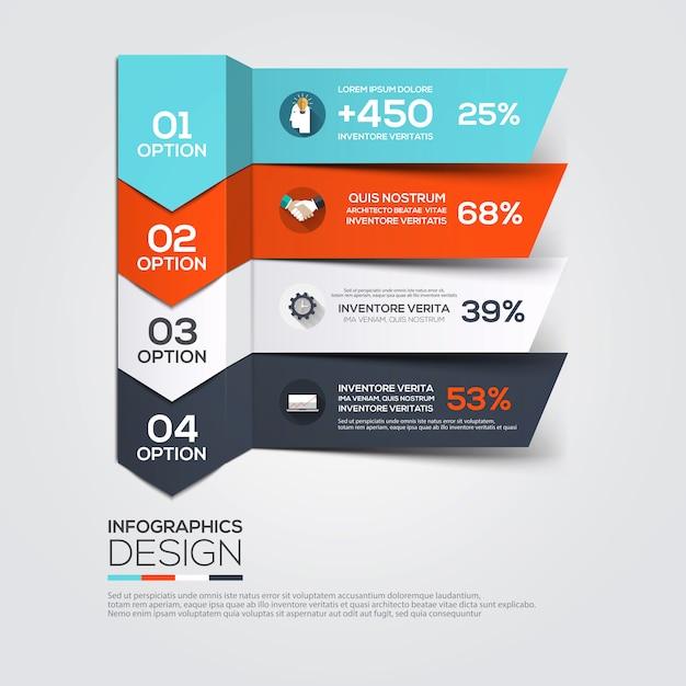 Современный минимальный инфографики шаблон Premium векторы