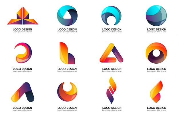 modern minimal vector logo for banner poster flyer vector