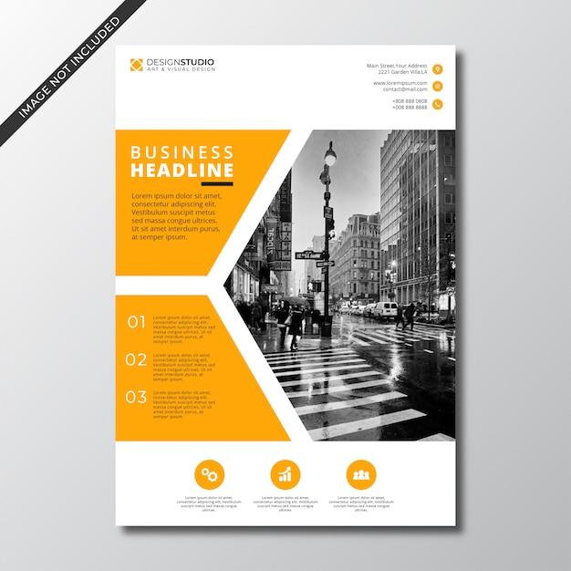 Modern minimalist business flyer Premium Vector