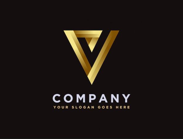 Современный минималистский буква v и логотип галочки Premium векторы
