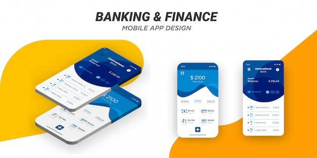 Modern minimalist mobile financing template. Free Vector