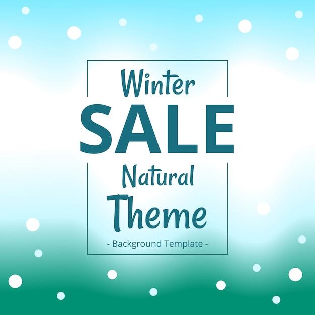 Modern minimalist winter natural theme sale banner Premium Vector
