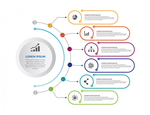 Modern minimalistic infographic banner. timeline infographics design vector. Premium Vector