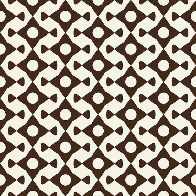 Современный монохромный геометрический орнамент из абстрактных элементов Бесплатные векторы