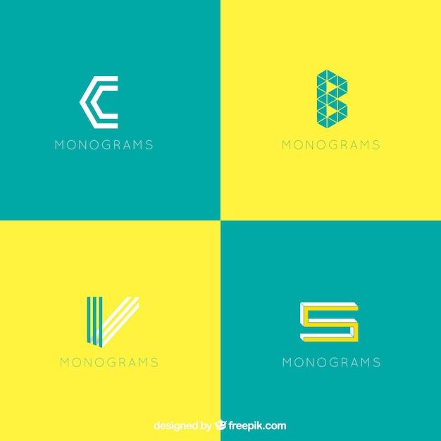 Modern monogram logos