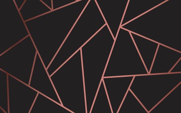 Современные мозаичные обои в розовом золоте и черном Бесплатные векторы