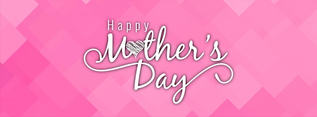 Modern mother's day pink stylish banner design Free Vector