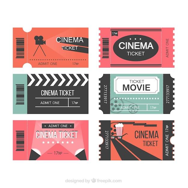 Modern movie tickets Free Vector