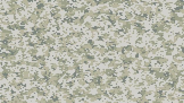 Modern multi-scale camouflage pattern in digital pixels Premium Vector