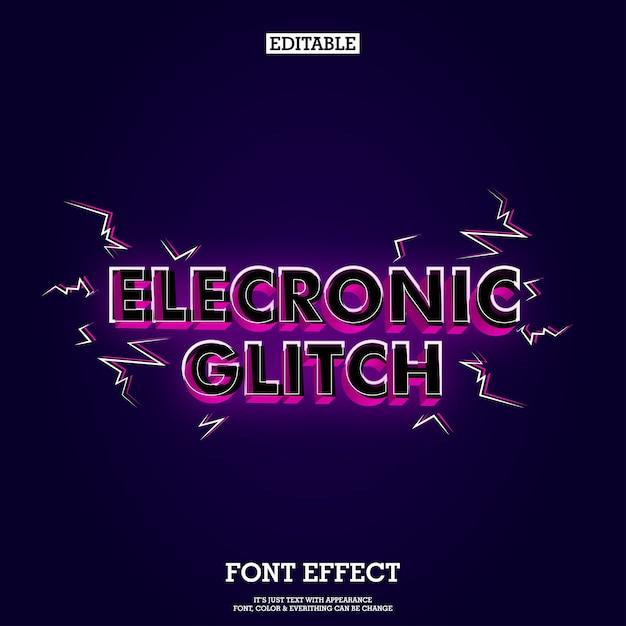 Modern music headline font tittle with glitch effect Premium Vector
