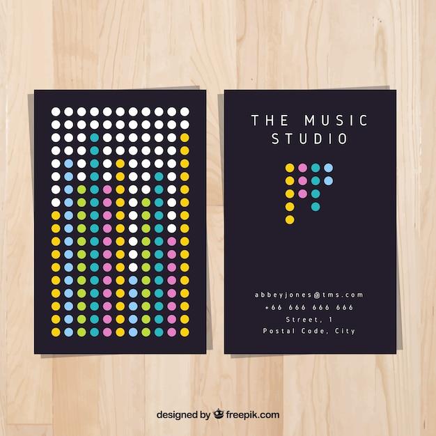 Modern music studio card  Free Vector