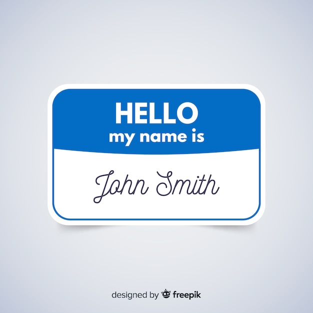 modern name tag template vector free download