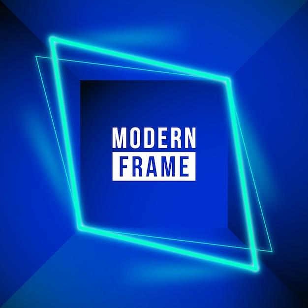 Modern neon frame background Free Vector