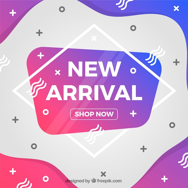 Modern new arrival background Free Vector