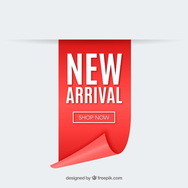 Modern new arrival composition with realistic design Free Vector