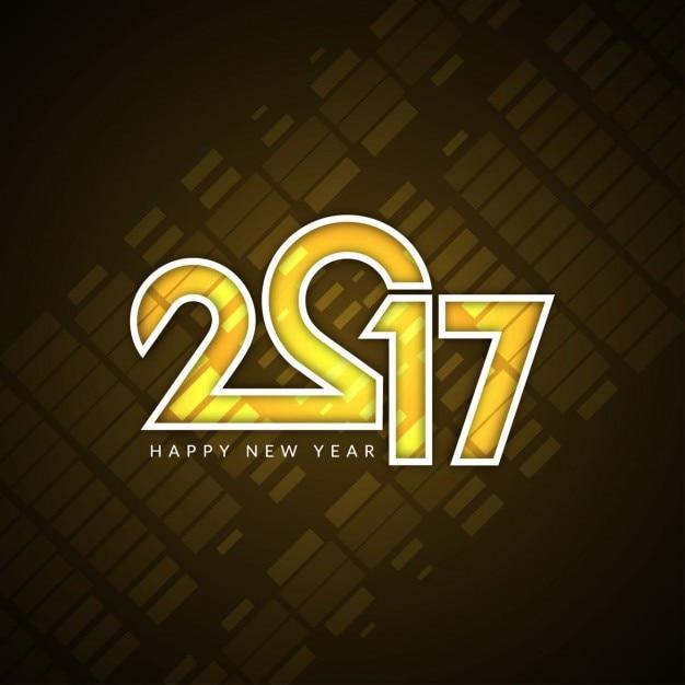 Modern new year 2017 background