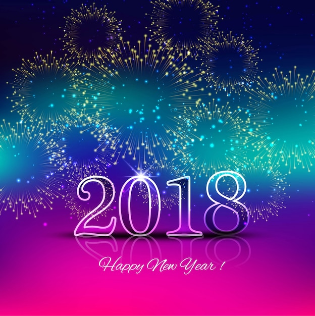 modern new year 2018 background free vector