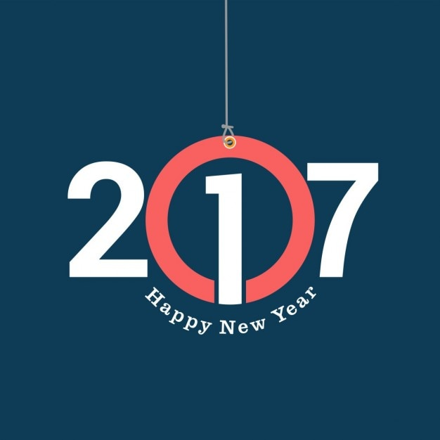 Modern new year card Free Vector