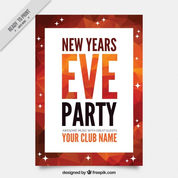 Modern new year party brochure Vector | Free Download